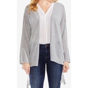 Vince Camuto ribbed lace up cardigan sweater 8148
